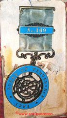 BRITISH LODGE OF TEMPERANCE No. 162 MEDAL - MASONIC LODGE 1884 DATE