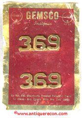 GEMSCO 369 NUMERAL COLLAR INSIGNIA