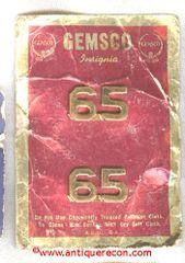 GEMSCO 65 NUMERAL INSIGNIA