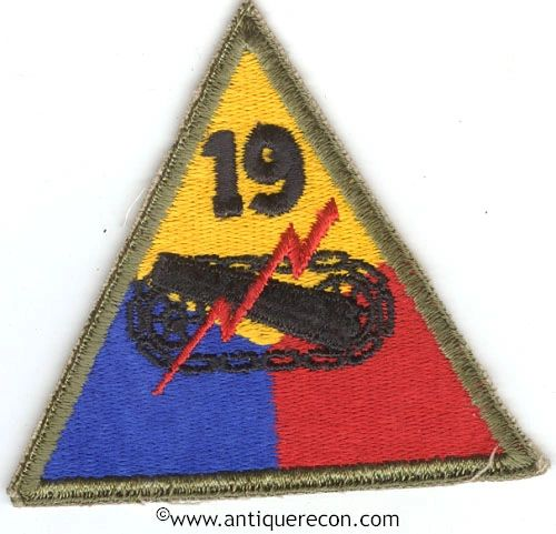 US ARMY 19th ARMORED DIVISION PATCH