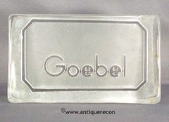 GOEBEL CRYSTAL DISPLAY SIGN