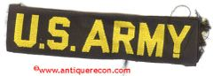 US ARMY TAPE - BLACK & GOLD 1960's