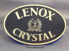 LENOX CRYSTAL DISPLAY SIGN