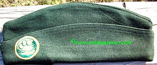 WW II CIVILIAN CONSERVATION CORPS GARRISON CAP - 7 3/8