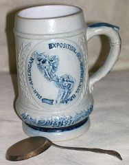 1901 PAN-AMERICAN EXPOSITION STEIN & SPOON - BUFFALO NY