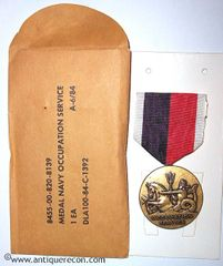 US NAVY OCCUPATION MEDAL - 1984 IN ORIGINAL PACK