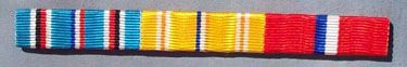 WW II US AMERICAN CAMPAIGN, EUROPEAN THEATER & PHILIPPINE LIBERATION RIBBON BAR SET - SEW ON STYLE