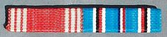 WW II US ARMY GOOD CONDUCT AND AMERICAN CAMPAIGN RIBBON BAR SET - SEW ON STYLE