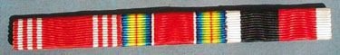 WW II US ARMY GOOD CONDUCT WW II VICTORY AND ARMY OF OCCUPATION RIBBON BAR - SEW ON STYLE