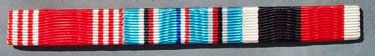WW II US ARMY GOOD CONDUCT, AMERICAN CAMPAIGN & ARMY OF OCCUPATION RIBBON BAR - SEW ON STYLE