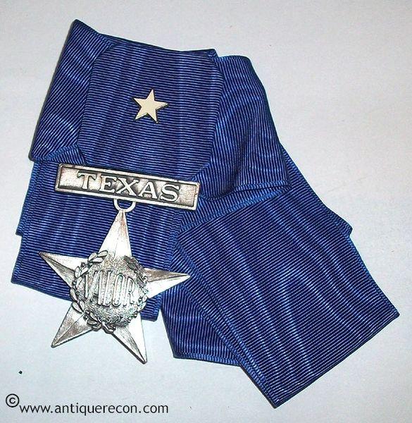 TEXAS STATE GUARD VALOR STAR NECK AWARD