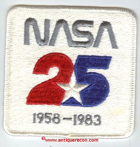 NASA 25th ANNIVERSARY PATCH 1958-1983