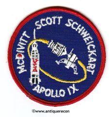 NASA APOLLO IX MISSION PATCH - SMALL