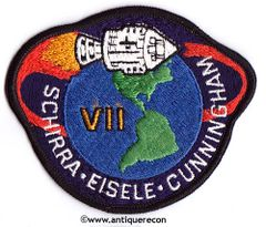 NASA APOLLO VII MISSION PATCH - IRON ON