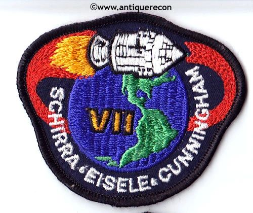 NASA APOLLO VII MISSION PATCH - SMALL