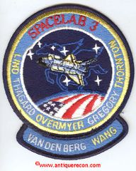 NASA CHALLENGER STS-51B SPACELAB 3 MISSION PATCH