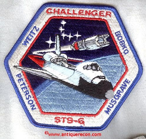NASA CHALLENGER STS-6 MISSION PATCH