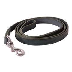 "3/4"" x 5 foot Leather Dog Leash in BLACK or HAVANA BROWN"