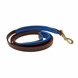 "1/2"" x 5 foot Skinny HAVANA BROWN Padded Leather Dog Leash in NINE Padding Colors"