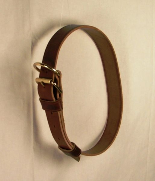 Leather Neck Collar - YEARLING Size