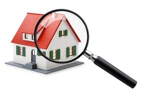 Cartoon style image of a home inspection