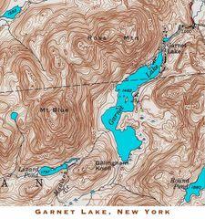 Garnet Lake New York Topographic Map Shirt