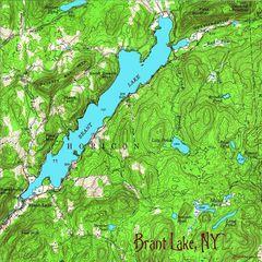 Brant Lake New York 1958 Topographic Map Shirt