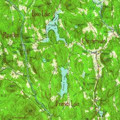 Chestertown New York 1954 Topographic Map Shirt