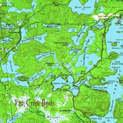 Fish Creek Ponds New York 1955 Topographic Map Shirt