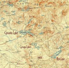 Canada Lake, Caroga Lake, Peck Lake 1903 New York Topographic Map Shirt