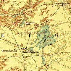 Brantingham Lake 1907 Topographic Map Shirt