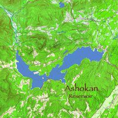 Ashokan Reservoir NY Topographic Map Shirt