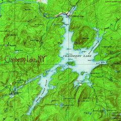 Cranberry Lake 1919 Topographic SweatShirt
