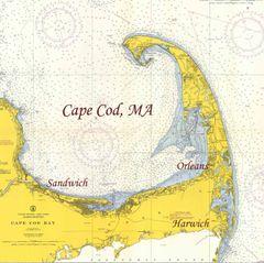 Cape Cod Bay, Massachusetts 1957 Nautical Chart
