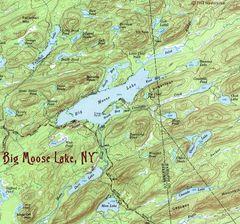 Big Moose Lake 1954 Topographic Map Shirt