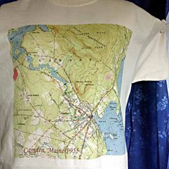 Camden Maine 1955 Topographic Map Shirt