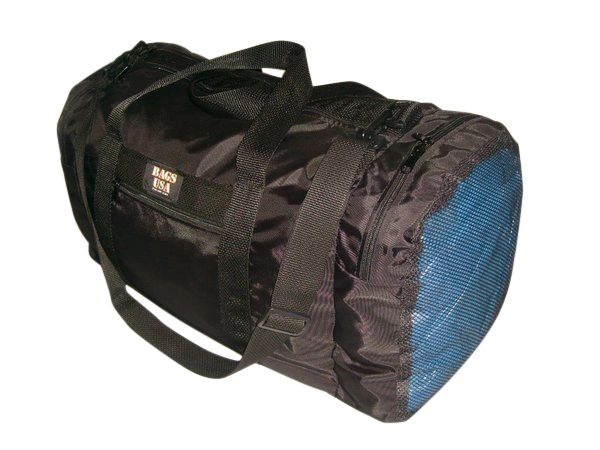 Carry On Wet And Dry Bag With One End Compartment Mesh, Made in USA.