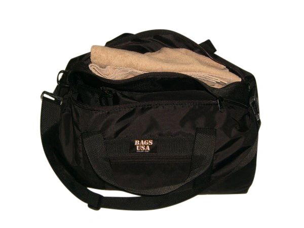 Sport Wet and Dry bag featuring wet compartment for swimming or gym Made in USA.