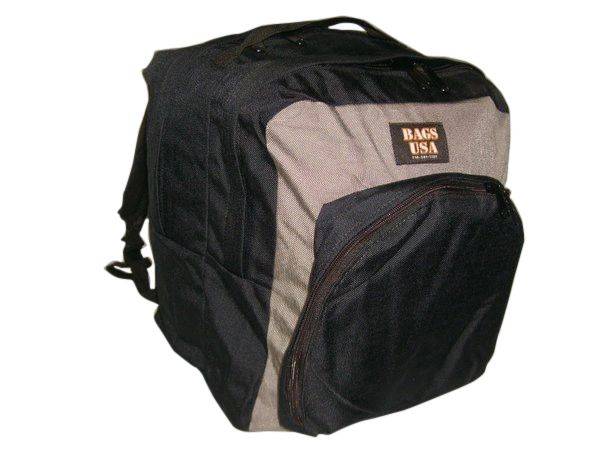 Backpack double compartment,front pocket organizer Made in USA