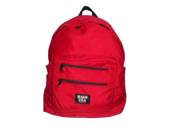 Tear Drop Backpack with Two Front Pockets, Holds Lots Of Books Made in USA.