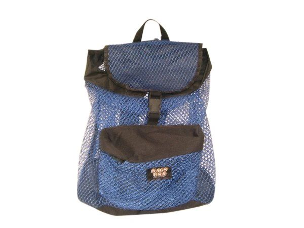 Mesh drawstring Backpack,great for gym,beach,durable industrial mesh Made in USA.
