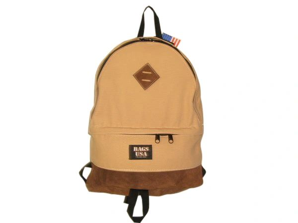 Topper Backpack,book bag,Eco friendly canvas student backpack Made in USA.