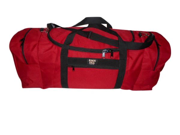 Extra Large Triple Travel Bag, Easy Excess U Opening And Two End Compartment Made in USA.