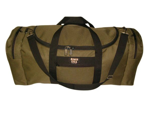 Rugby bag,oversize carry on with U opening for easy excess Made in USA.