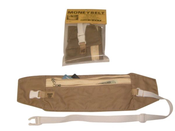 Money belt,travel pouch,passport holder,under cover waist travel bag Made in USA