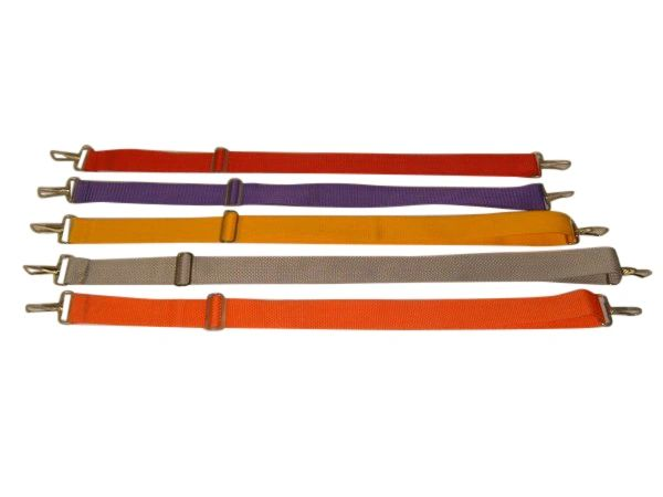 Shoulder straps nylon adjustable 1 1/2 inch wide Made in USA.
