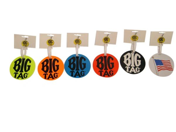 "Luggage tag, 2 pack Big tag,identification tag,name tags 4"" wide,see nice bright colors."