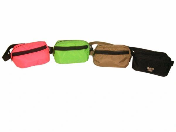 Fanny pack with front pocket,square Fanny pack assorted Colors.