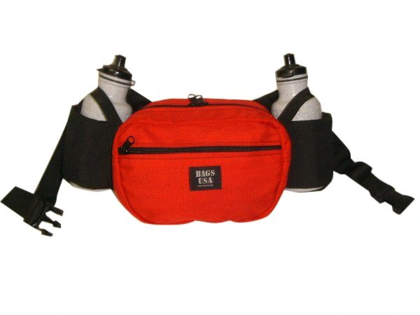 fanny pack with two water bottle holders,22 oz bottles fits perfect U.S.made