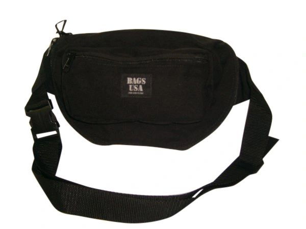 Law enforcement concealed Fanny Pack With holster and magazine holder, Made in USA.
